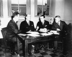 Donald Gudakunst, Morris Fishbein, Basil O'Connor, and Thomas M. Rivers, 1941; C