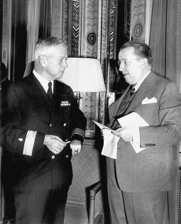 Comdr. Thomas M. Rivers and Basil O'Connor, 1946; Courtesy of March of Dimes