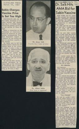 Two articles from the Cleveland Press in 1961.