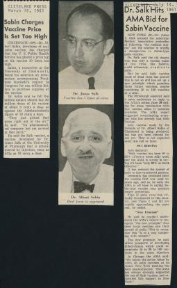 Two articles appearing in the Cleveland Press in 1961.