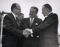 Jonas Salk, Charles Dail (Mayor of San Diego, who had polio) and Basil O'Conn